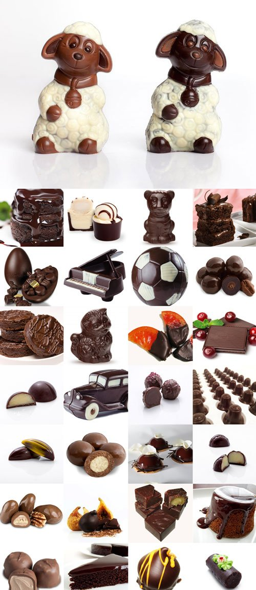 Chocolate products Raster Graphics