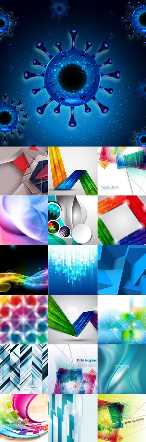 Stylish abstract vector backgrounds set 13