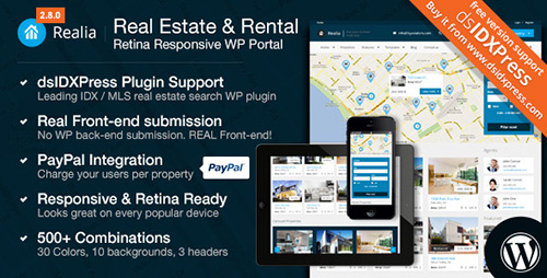 ThemeForest - Realia v3.1.6 - Responsive Real Estate WordPress Theme