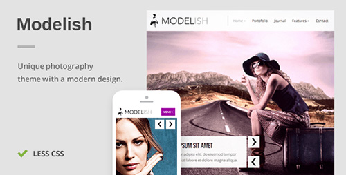 ThemeForest - Modelish v1.4.3 - A Unique Photography WordPress Theme
