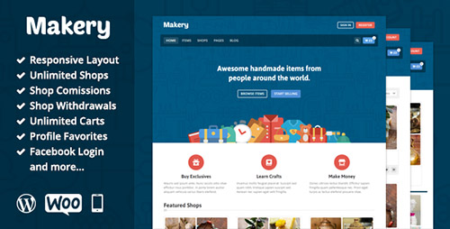 ThemeForest - Makery v1.7 - Marketplace WordPress Theme