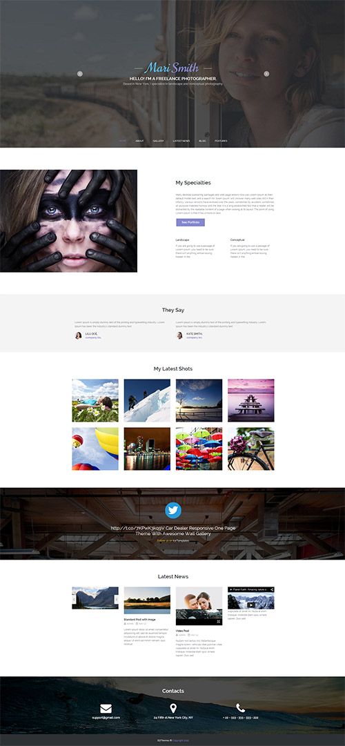 CreativeMarket - Mari Smith v1.0 - Premium WordPress Theme