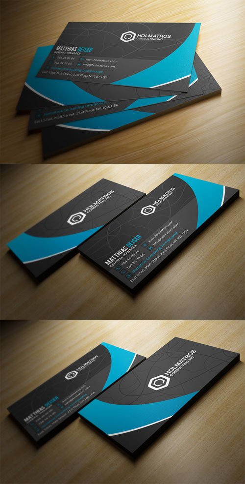 Creativemarket Modern Grey Business Card 78252