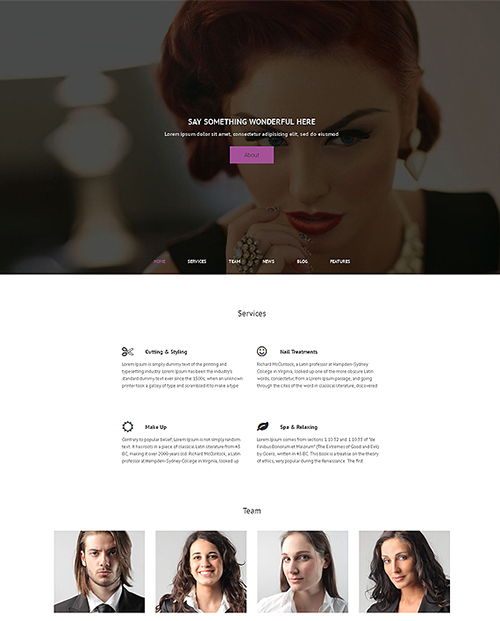 CreativeMarket - Hair Salon v1.0 - Premium WordPress Theme