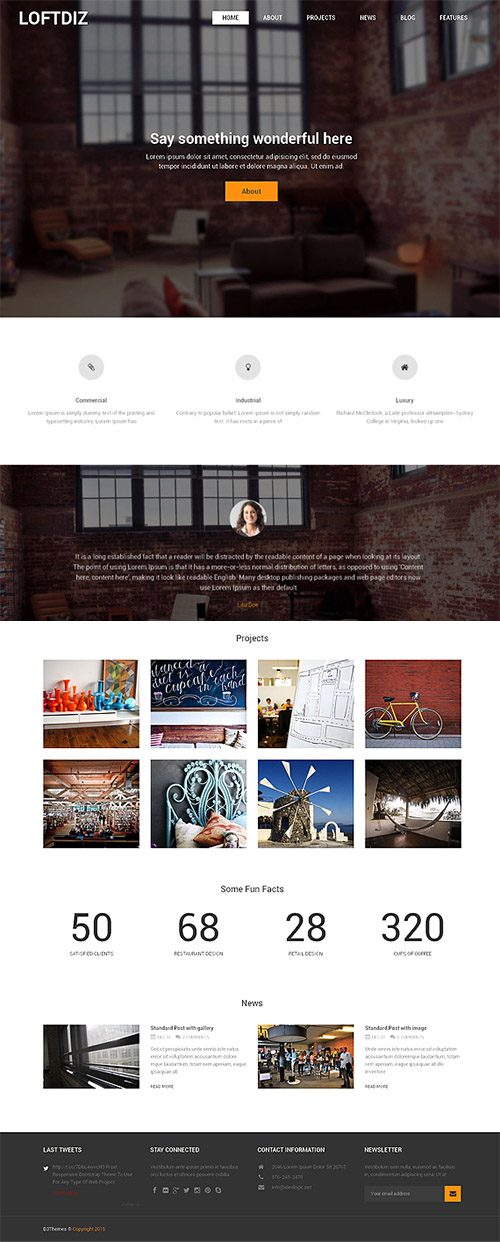 CreativeMarket - Loftdiz v1.0 - Premium WordPress Theme