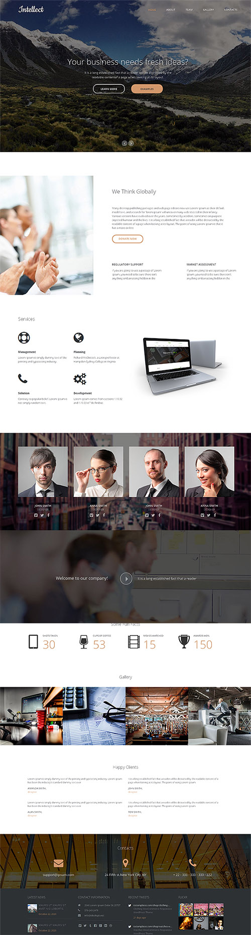CreativeMarket - Intellect Responsive One Page Theme