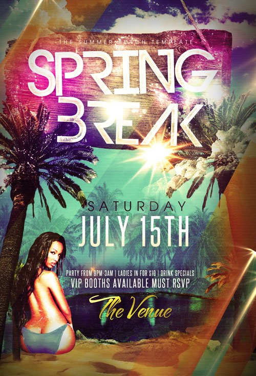 Party Flyer Template – Spring Break Island - Heroturko Download