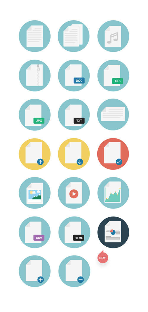 AI, EPS, PNG, SVG Vector Web Icons - File Types Icons (April 2015)