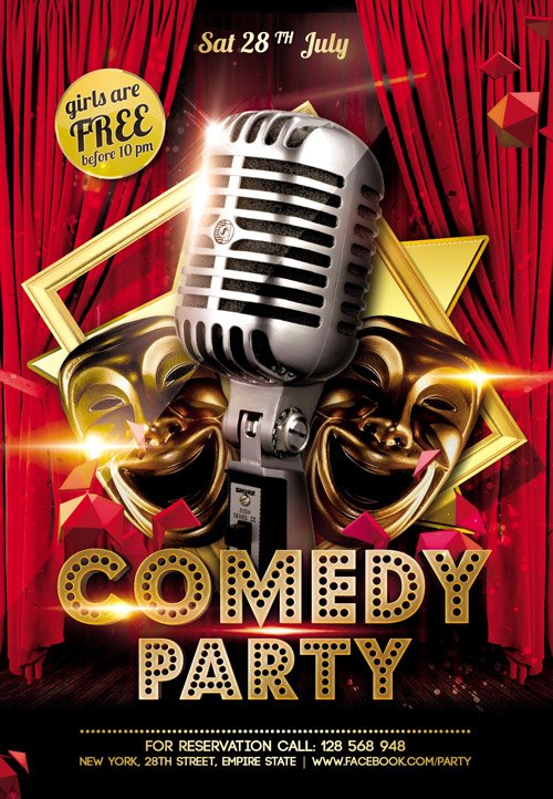 comedy night flyer template free - Bogas.gardenstaging.co