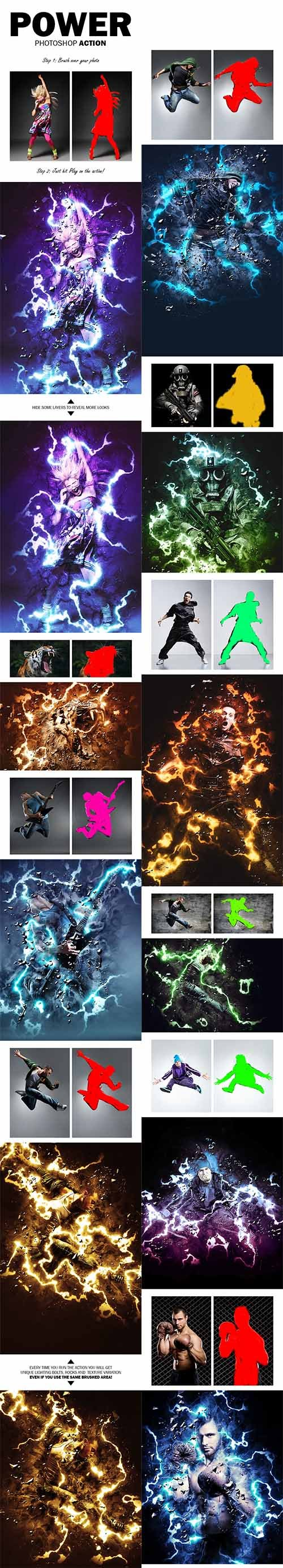 GraphicRiver - Power Photoshop Action 11093015