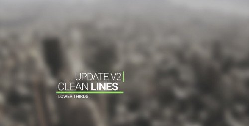 VideoHive - Clean Lines Lower Third 10740623