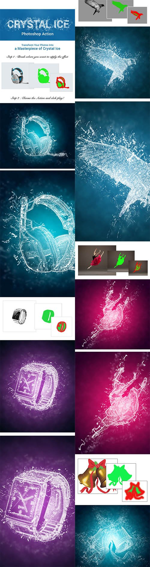 GraphicRiver - Crystal Ice Photoshop Action 11083870