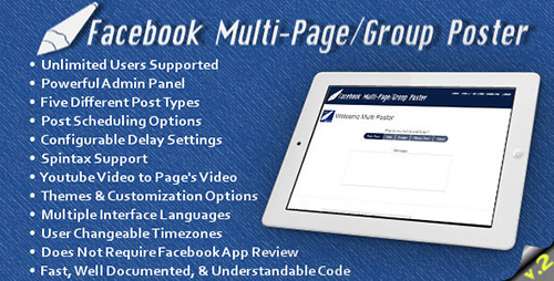 CodeCanyon - Facebook Multi-Page/Group Poster v2.2
