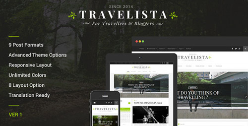 ThemeForest - Travelista v1.0.5 - WordPress Blog Theme