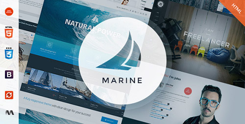 ThemeForest - Marine v1.0 - Responsive MultiPurpose HTML5 Template - FULL
