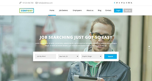 HTML/PSD Web Template - Job Board - One Page Corporate Job Board Theme