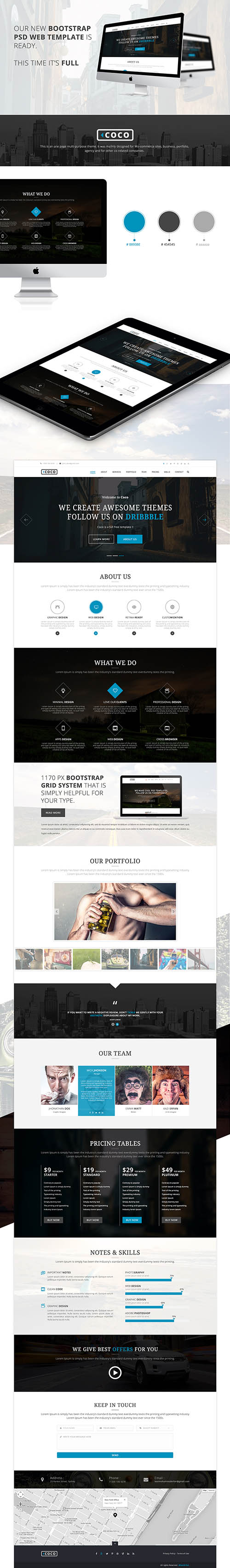 PSD Web Template - Coco - Business Theme