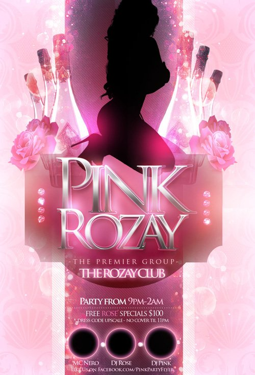 Flyer Template - Pink Rozay Party