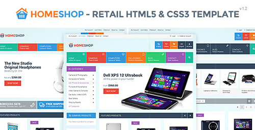 ThemeForest - Home Shop v1.2 - Retail HTML5 & CSS3 Template - FULL