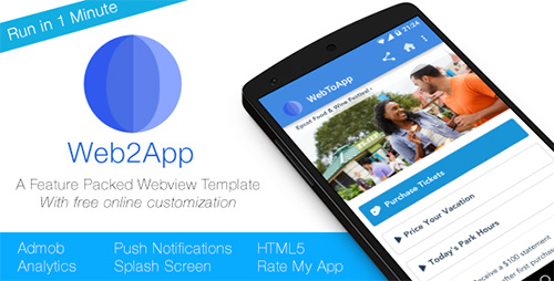 CodeCanyon - Web2App - Quickest Feature-Rich Android Webview