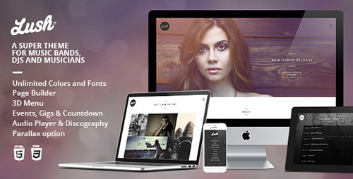ThemeForest - Lush v2.2.7 - Music Band & Musician WordPress Theme