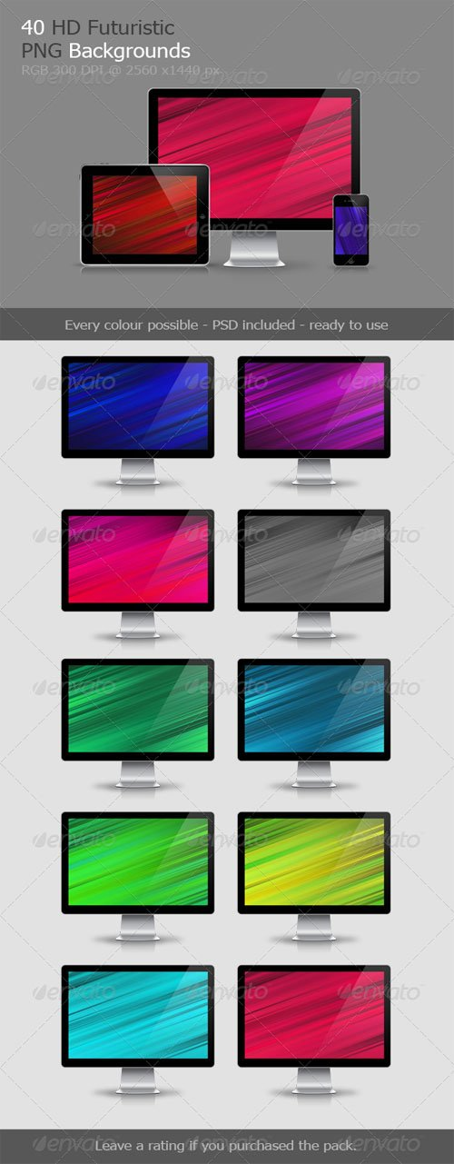 40 Futuristic Backgrounds V.1 - Graphicriver 7205049