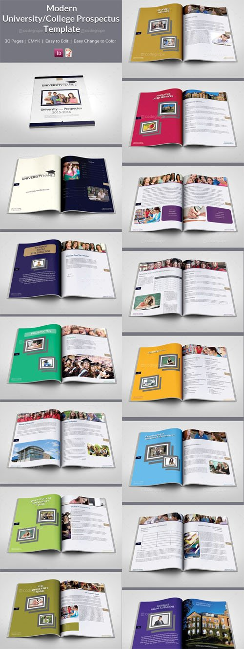 Indesign Modern University - College Prospectus Template