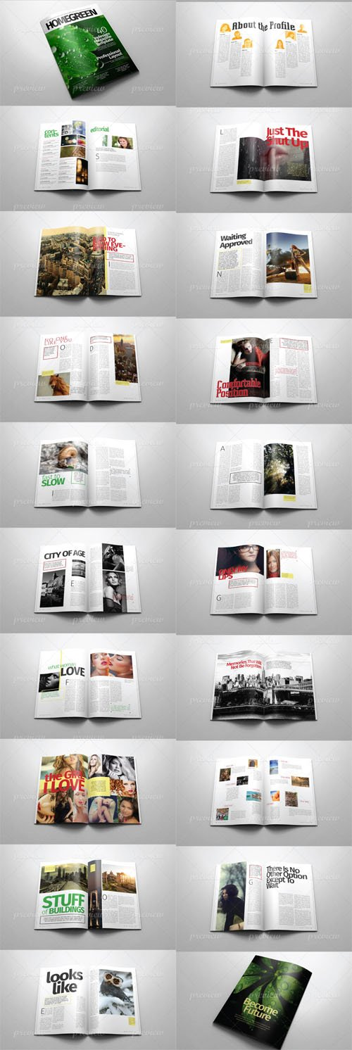 Indesign Template - A4 Letter Magazine  v 01