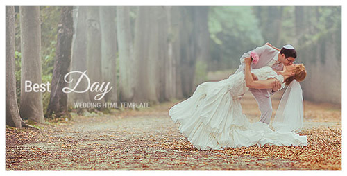 ThemeForest - Best Day - Responsive One-Page Wedding Template - RIP