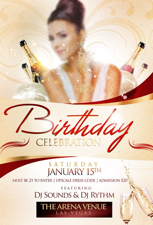 Flyer Template - Birthday Celebration » Nitrogfx - Download Unique