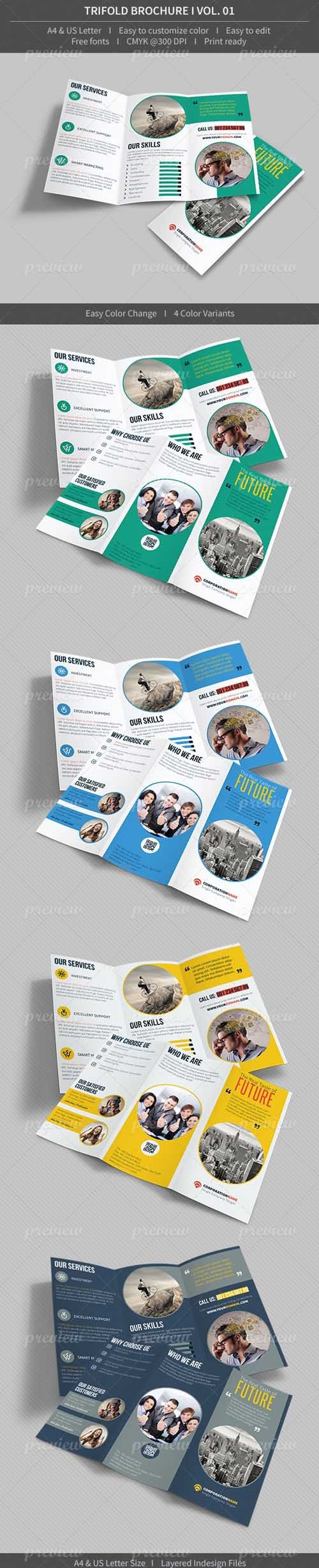 Indesign Trifold Brochure - Volume 01