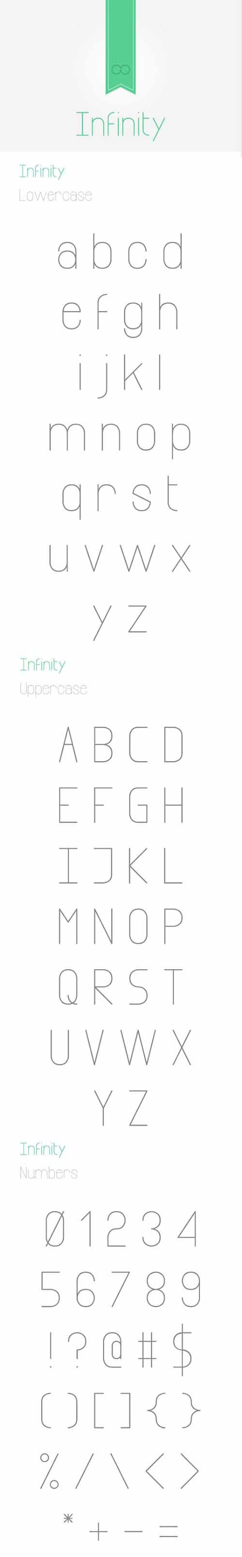 Infinity Font Style