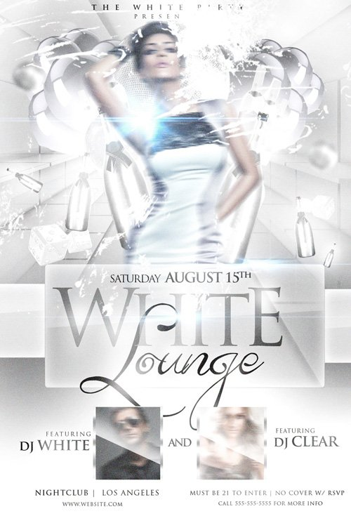 Flyer Template - White Lounge Psd » Nitrogfx - Download Unique