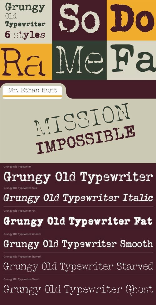 Grungy Old Typewriter Font