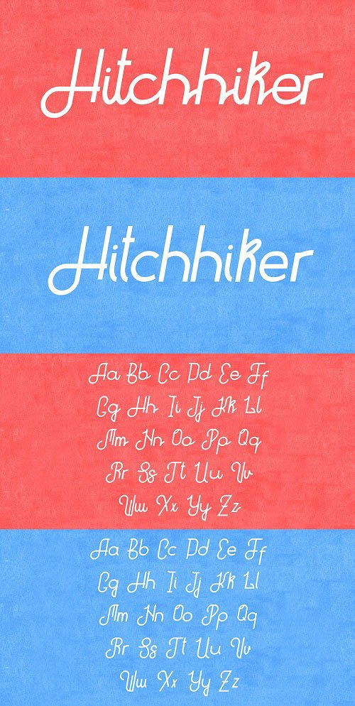 Hitchiker Font Style