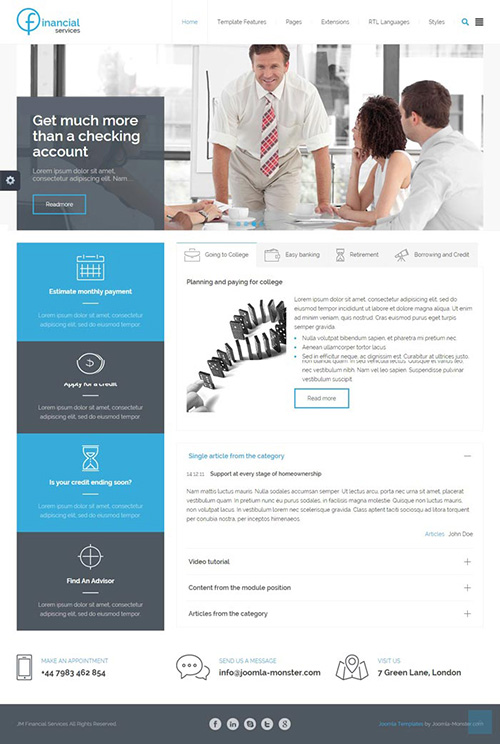 Joomla-Monster - JM Financial Services v1.00 - Perfect Joomla 3.x Template for Companies