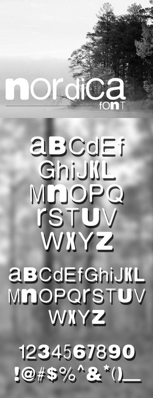 Nordica Font Style