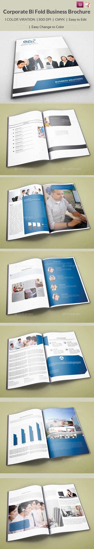 Indesign corporate bi fold business brochure scripts for Indesign bi fold brochure template