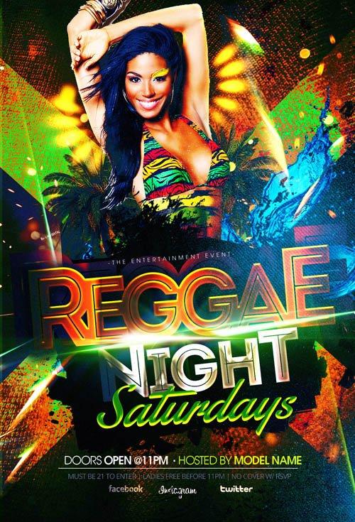 Reggae Nightlife Flyer Template 187 Nitrogfx Download