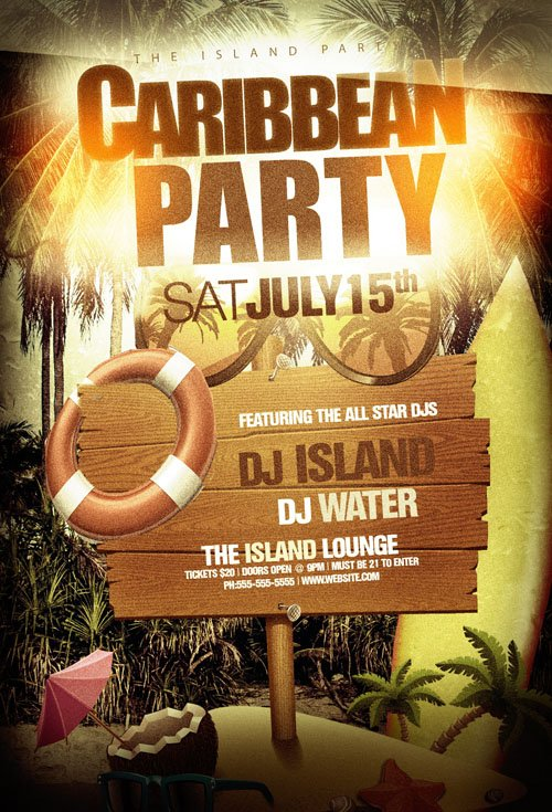 Flyer Template - Carribean Party