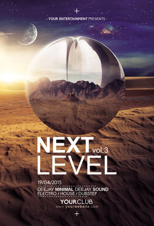 Next Level 3 Flyer Template