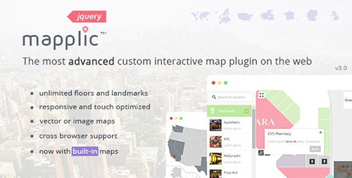 CodeCanyon - Mapplic v3.0 - Custom Interactive Map jQuery Plugin