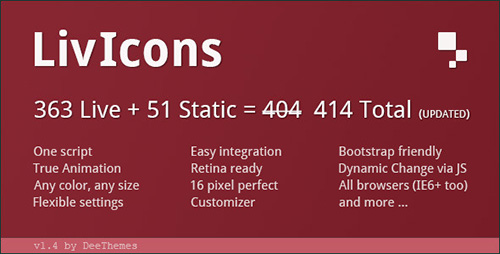 CodeCanyon - LivIcons v1.4 - 303 Truly Animated Vector Icons
