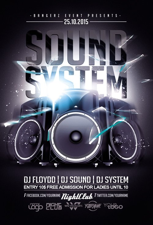 Flyer Template - Sound System Party