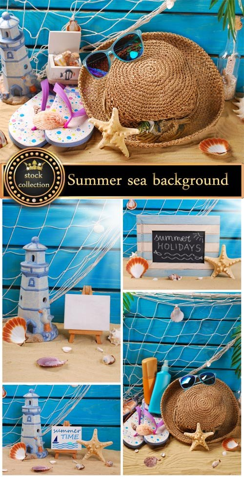 Summer sea background - Stock photo