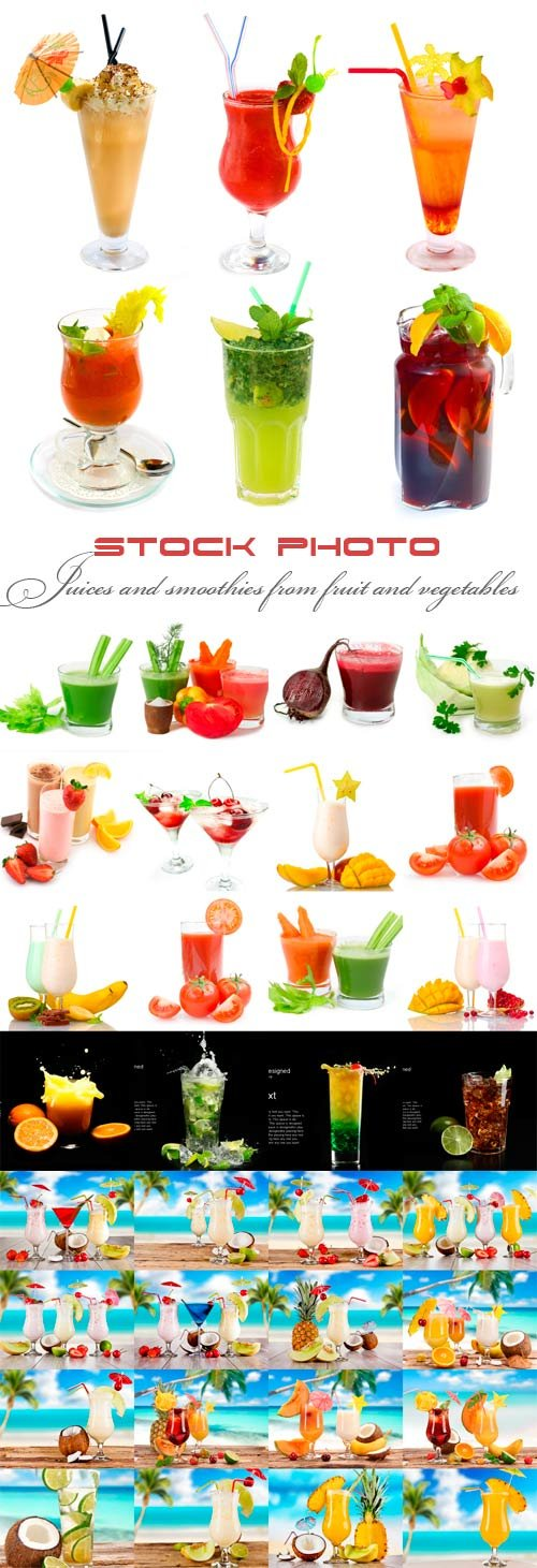 Juices and smoothies from fruit and vegetables