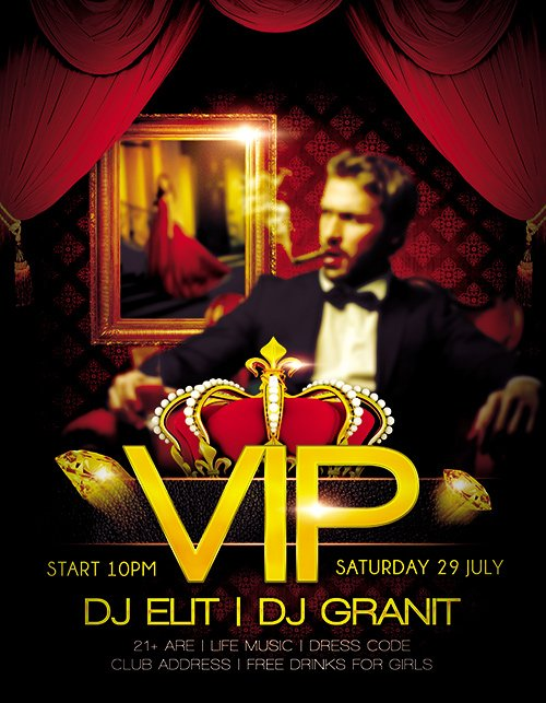 Vip Party Flyer PSD Template Facebook Cover