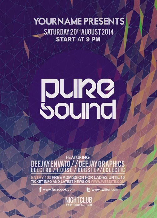 Flyer PSD - Pure Sound