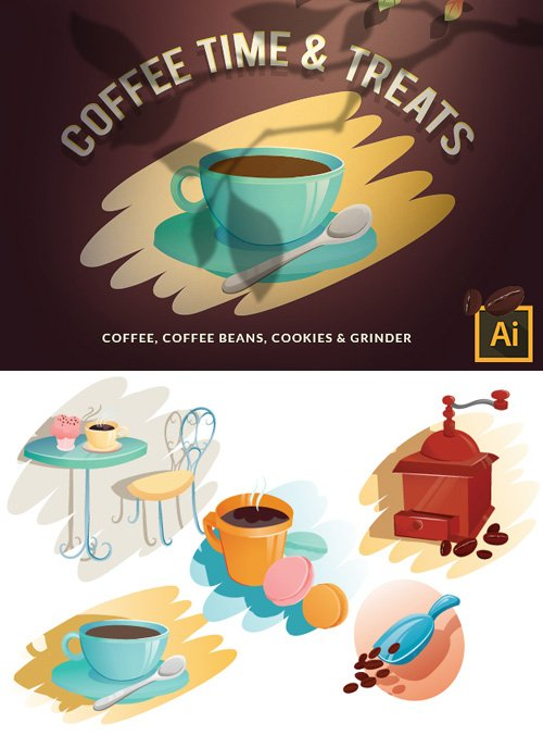 Coffeetime Vector Set 16