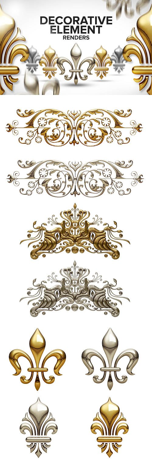 Photo Stock Decorative Gold Elements